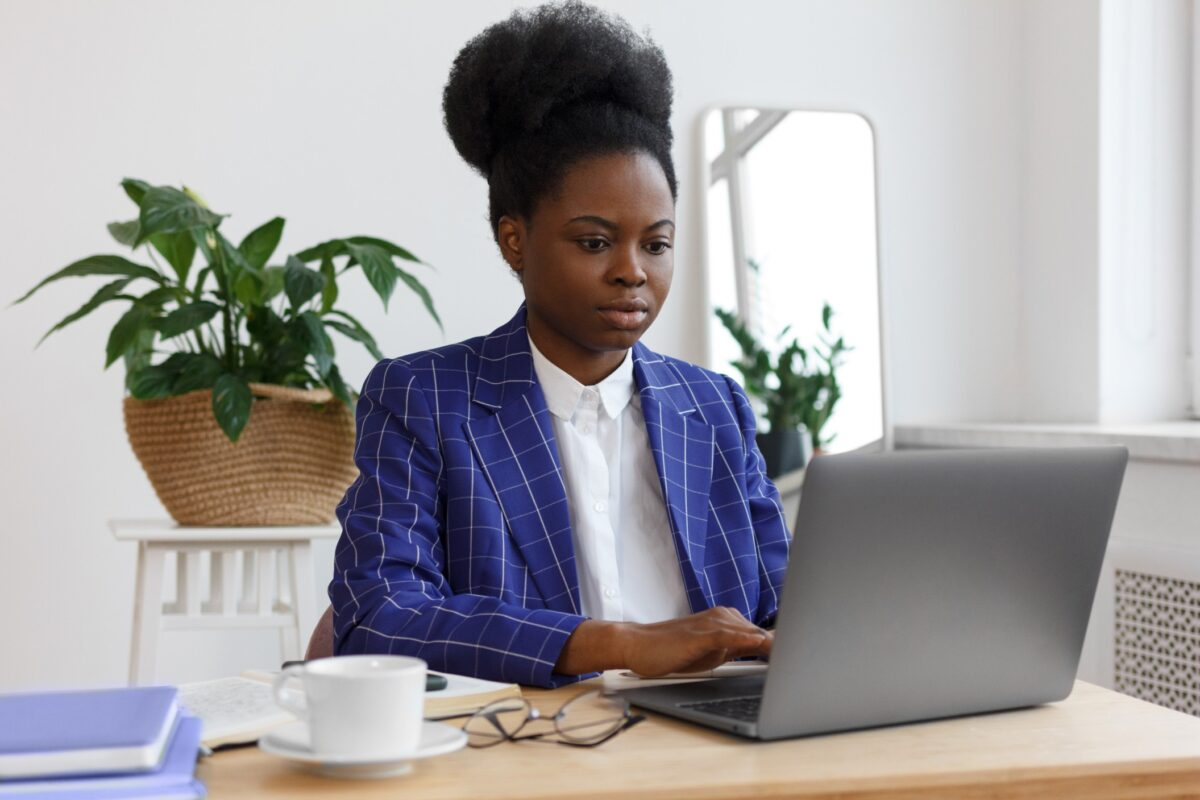 woman applying tips on how to write a grant