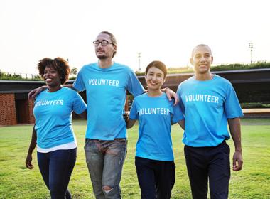 Volunteeers for nonprofit organization